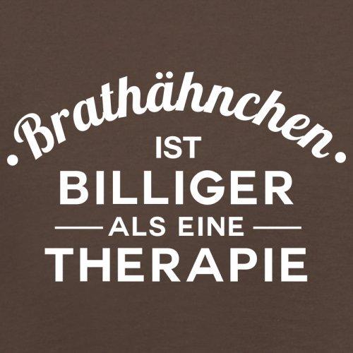 Brathähnchen ist billiger als eine Therapie - Herren T-Shirt - 13 Farben Schokobraun