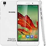 "BlubooMaya- Smartphone libre Android 6.0 (Pantalla 5.5"", Cámara trasera 13 Mp, MT6580A Quad Core 1.3 GHz, 2GB de RAM, 16GB de ROM, Dual SIM 3G), Blanco"