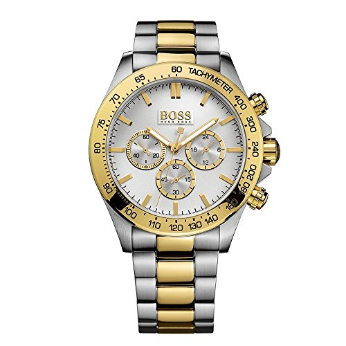Hugo Boss HB-1512960 44mm Stainless Steel Case Multicolor Two Tone Stainless Steel Mineral Men's Watch