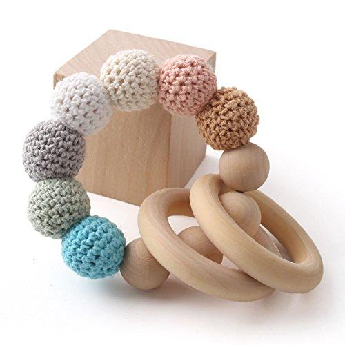 baby tete Original en bois perles de dentition bébé crochet hochets maman allaitement accessoires infantile classique jouet sensoriel bébé douche cadeau