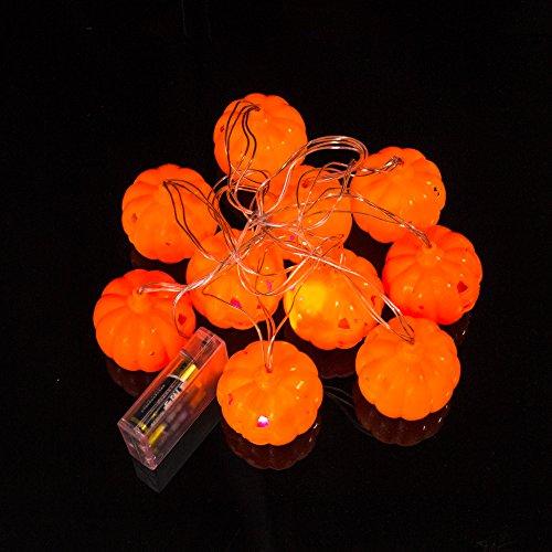 miduxian Halloween String Lights Jack O Laterne 10pcs Kürbis Led String Lights Jeder 7,5 ft Lange für Halloween Party Dekorationen Outdoor