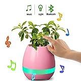 LIMFH Lautsprecher Smart Finger Touch Drahtlose Bluetooth-Lautsprecher Multi-Color-LED-Nachtlicht Mp3 Musik-Blumentopf Home-Office-Schreibtisch Dekorative, Weiß