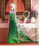 Mary ELSA Kleid Eiskönigin Supergirl Kostüm Mädchen Kostüm Mädchen Ice Romance Kleid,120