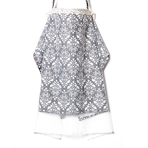 JLRQY Stillen Abdeckung Mit Verstellbarem Gurt 100% Baumwolle Net Yarn Boned Nursing Cover 70X110cm Atmungsaktiv Leicht,G
