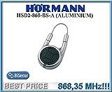 Hörmann HSD2–868-bs-a Aluminium Fernbedienung, 868,3MHz BiSecur 2-Kanal-Transmitter. Top Qualität Original Hormann Fernbedienung für die besten Preis