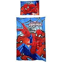 Bettwäsche Spiderman * Bettbezug 140 x 200 cm + 1 Kissenbezug 70 x 90 cm * 100% Baumwolle