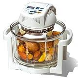 DLT Turbo Air Friteuse-Ofen, 11 Qt-Halogenofen Oilless Air Fryer-Ofen, Konvektions-Toaster-Bräter, Backen, Grillen, Braten, Braten, Weiß