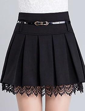 De las mujeres Faldas-Sobre la rodilla Casual / Simple Microelástico-Poliéster , 3xl