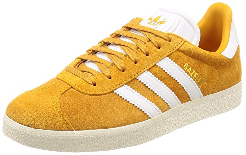 adidas Gazelle, Sneakers Basses Homme Or (Collegiate Gold/footwear White/cream White)