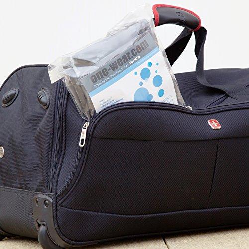 Wegwerfbar Boxershorts (5 Pack) - EINE GRÖSSE Supersoft Leicht Unterwäsche für den Einweggebrauch ideal für Reisen Krankenhäuser Spa Massagen Sauna Sonnenstudio in Notsituationen Schwarz - 1 Paket