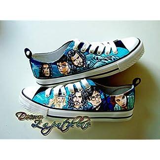 Zapatillas customizadas personalizados lona Harry Potter, regalos para cumpleaños – regalos para el – regalos para ella – regalos aniversario – San Valentin