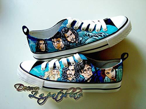 Zapatillas customizadas personalizados lona Harry Potter, regalos para cumpleaños - regalos para el - regalos para ella… 15