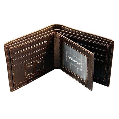 Kreditkarten ID Karte Halter Tasche Brieftasche Reise Ausweise Wallet Organizer (Schwarz) Kaffeebraun