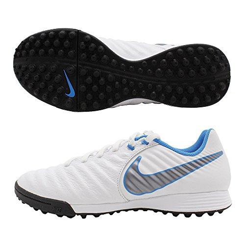 Nike Fußball Schuh Zeit legendx 7Academy Sohle TF weiß/blau Erwachsene, weiß, 39