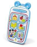 Clementoni–téléphone parlant Smartphone Mickey bleu