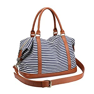 Women's Travel Duffle Bags, LOSMILE Ladies Canvas Weekend Overnight Carry on Shoulder Tote Bag Holdall Luggage Bags…
