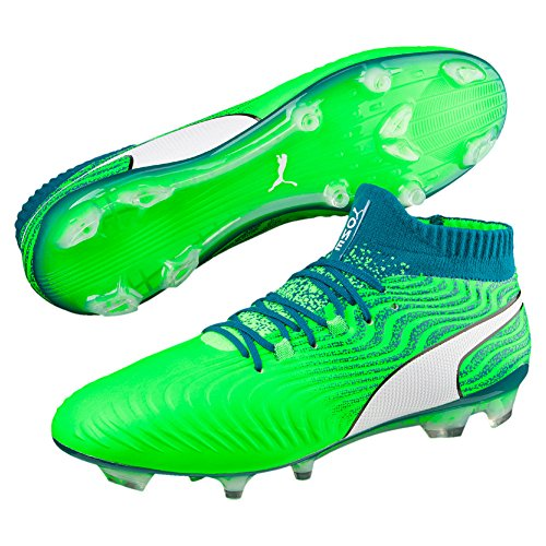 Puma Herren One 18.1 FG Fußballschuhe hellgrün/grün, 45 EU