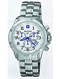 Wenger 'GST' Stainless Steel Chronograph Watch With Rotating Bezel