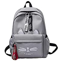 SkyTheme 20 Ltrs 40 Cms Ladies Backpack cum Handbag, Collage Bag (Me-Grey-01)