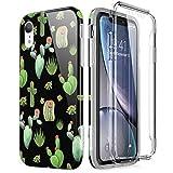 SURITCH Sruitch Compatible avec Coque iPhone XR Silicone 360 Degrés Protection...