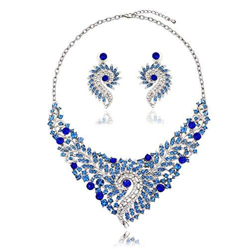 houda-femmes-de-cristal-bling-bleu-fleurs-collier-plastron-hippocampe-collier-ras-du-cou-et-boucles-
