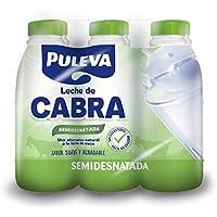 Puleva Leche de Cabra Semidesnatada - Paquete de 6 x 1000 ml - Total 6000 ml