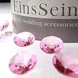 100x FUNKELNDE Diamantkristalle 12mm rosa EinsSein® Dekoration Dekosteine Diamanten FUNKELNDE Diamantkristalle Streudeko Konfetti Tischdeko Hochzeit