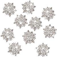 10pcs Bottoni Di Cristallo Strass Girasole Fiori Abbellimenti 30 Millimetri