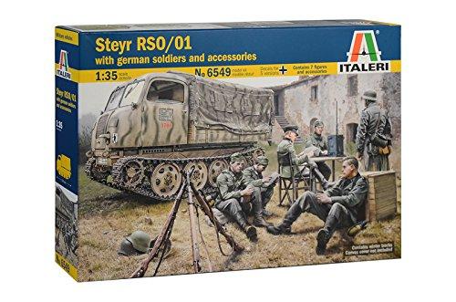 Italeri 6549 steyr rso/01 with german soldiers and accessories model kit mezzi militari scala 1:35