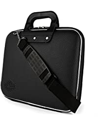 "Style Homez Stylish Unisex Hard Shell Briefcase Black Laptop Bag with Strap for 15.6"" Laptop"