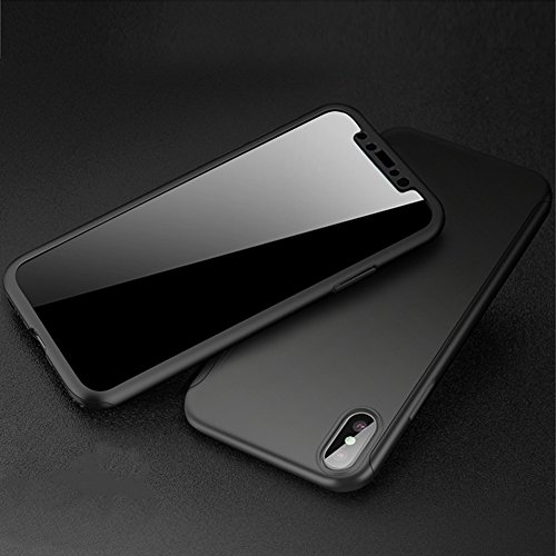 Coque iPhone X, iPhone 10 Coque 360 Degres, SainCat Ultra Slim Full Protection 360 Coque Cover pour iPhone X/iPhone 10, Coque en Plastique 360 Degres Avant et Arriere Full Body Ultra Resistante Full Cover Anti-Scratch Ultra Fine Cover Coque Caoutchouc Har