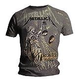 Metallica - Camiseta con diseño delante y detrás - Justice Neon