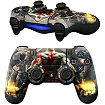 GADGETS WRAP PS4 Controller Designer Skin For Sony PlayStation 4 DualShock Wireless Controller - God Of War Painted Back, Skin For One Controller Only