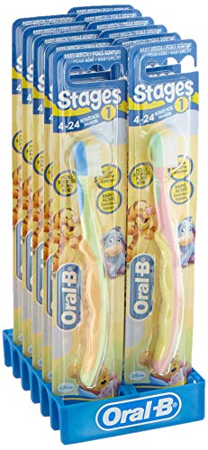 Oral-B Stage 1 Kinderzahnbürste für 4 bis 24 Monaten, 12er Pack (12 x 1 Stück)