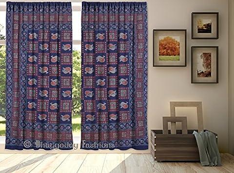 indischen Mandala Vorhänge Tapisserie Drapes Fenster Volants Bohemian Voile Vorhänge