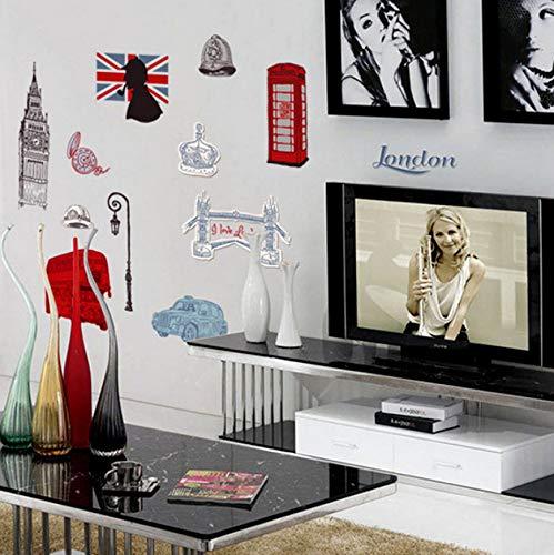 Decal Hochzeit Wohnzimmer Diy Dekorative Wandbild London City England Stil Schöne Klassische Big Ben Klebstoff ()