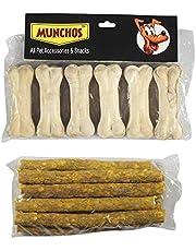 MUNCHOS Dog Bone (3-inch x 6 Pcs) + 120 GMS Chicken Stick