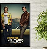 yhnjikl Poster Stampa Hot Vintage retrò C'era Una Volta A Hollywood Quentin Tarantino Art Canvas Picture Wall Wall Room Room Stampa Decor 40X60Cm Senza Cornice