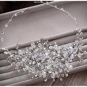 CYY Braut Kopfschmuck Legierung Perle Diamant Kristall Kopfschmuck Haar Krone Hochzeit Zubehör Hochzeit oder Fotografie