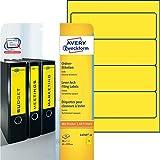 Avery Zweckform L4769-20 Ordner-Etiketten 20 Blatt gelb