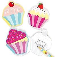 Blocchetti per Appunti Profumati Cupcakes - motivo dolcetti (confezione da 6)