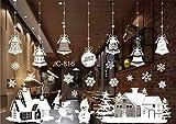 Cczxfcc Decorazioni Di Natale Adesivi Per Vetri Per Finestre Buon Natale Babbo Natale Adesivi Murali In Pvc Rimovibili Per Decorazioni Natalizie Di Natale 55 X 38 Cm