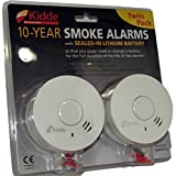 Kidde 233045 Smoke Alarms 2 Pack 10 Year Battery Life