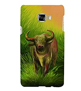 Print Masti Designer Back Case Cover for Samsung Galaxy C7 SM-C7000 (Ox Painting Graphic Design )