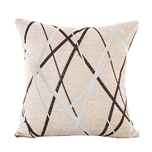BakeLIN Kissenbezug Plüsch Quadrat Pillowcase Lendenkissen Kissenhuelle Sofa Haus Dekoration 42X42cm (42X42cm, Beige) (Mikrofaser-plüsch-hase)