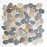 Piastrelle Mosaico tessere di mosaico in pietra naturale ciottoli piatto colorato pavimento 8–10mm nuovo # 270