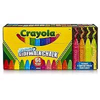 CRAYOLA Washable Sidewalk Chalk, Multi-Colour, 15.74 x 34.29 x 9.52 cm