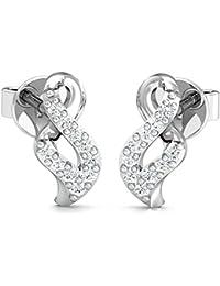 Stylori 18k (750) Gold and Diamond Stud Earrings