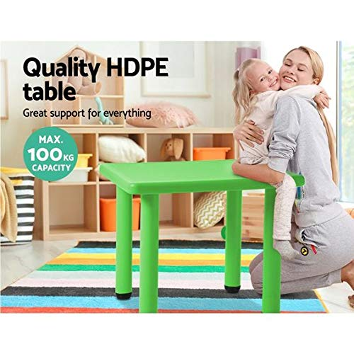 Intra Kids School Study Table, Square - No Chairs (Green)