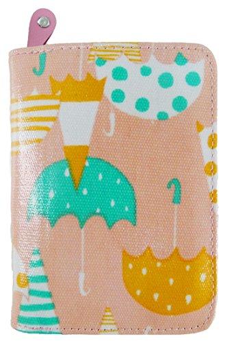 Kukubird Vari Gatti Unicorni Animali Ancora Ombrello Floreale Pattern Medium Signore Borsa Frizione Portafoglio Umbrella Pink